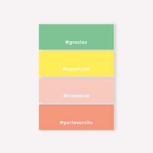 Sticky Notes Set x4 Happimes Colorblock- Hashtag