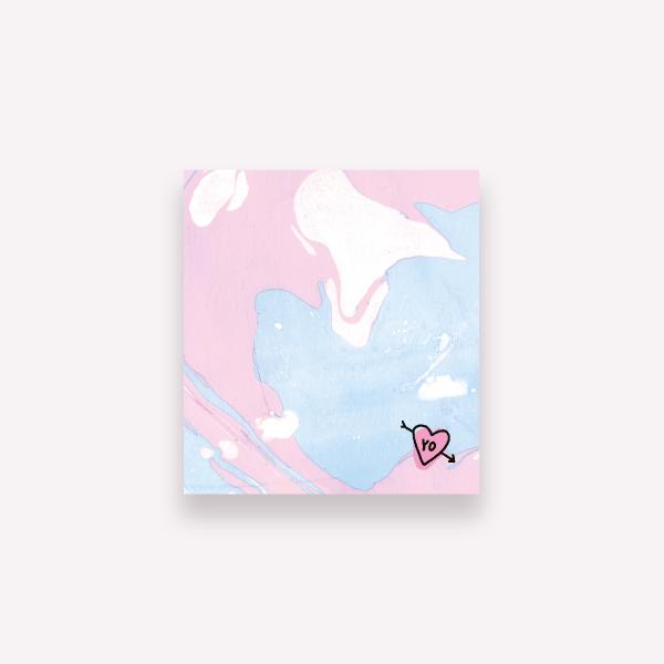 Sticky Notes Pepita Sandwich - Marble Yo  6,7 x7,4 cm