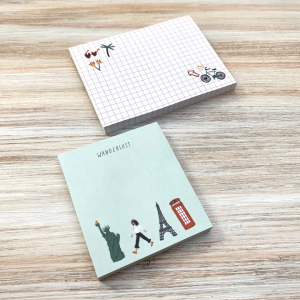 Sticky Notes De viaje - Wanderlust 6,7 x 7,4 cm