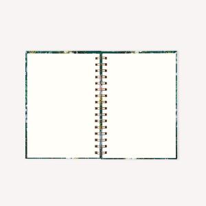 Cuaderno Anillado A5 Liso Happimess Believe Verde