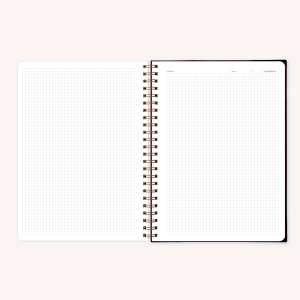 Stitched Notebook A4 Grid Happimess Universo