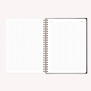 Stitched Notebook A4 Grid Pepita Sandwich Obra de Arte