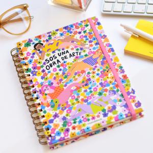 Spiral Notebook A5 Plain Pepita Sandwich Obra de Arte
