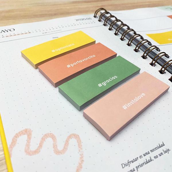 Sticky Notes Set x4 Happimes Colorblock- Hashtag