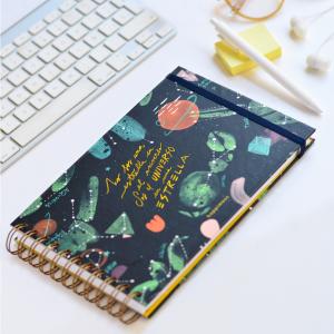 Happimess Universo en una Estrella Landscape Notebook