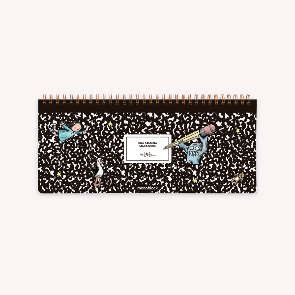 Macanudo Composition Ringed Weekly Planner 28x12 cm