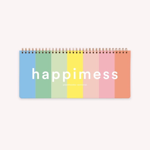 Happimess Colorblock Ringed Weekly Planner 28x12 cm