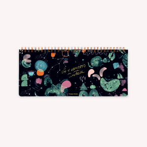 Planificador Semanal Anillado 28x12 cm Happimess Universo