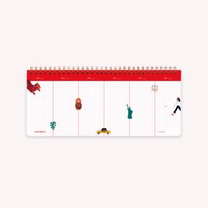 Planificador Semanal Anillado - Wanderlust 28x12 cm