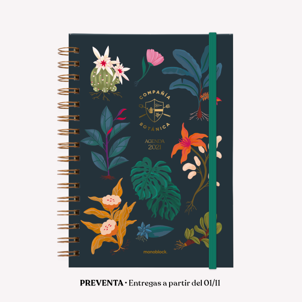 Planner 2021 A5 2 days per pages - Compañía Botánica Nigths