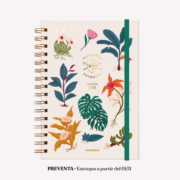 Planner 2021 A5 2 days per pages - Compañía Botánica Days