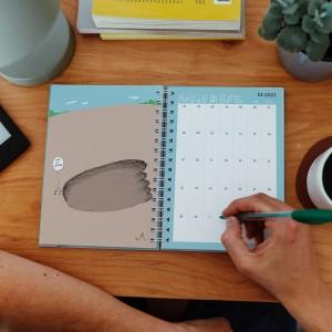 Planner 2021 A5 Tute Enredado - 2 days per pages.