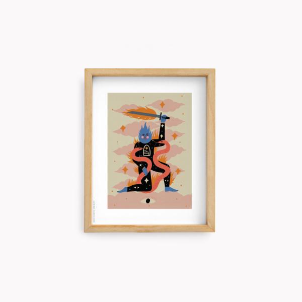 Wall Art Bruja Moderna Jennifer Dahbura Aries 22x28cm