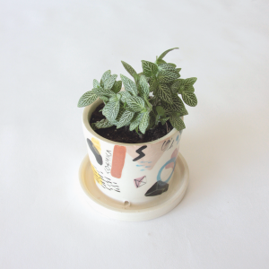 Happimess by JASA - Ceramic Pot with Plate