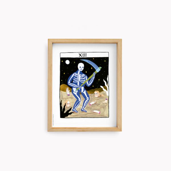 Wall Art Bruja Moderna Jazmin Varela - La muerte 22x28cm