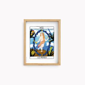 Wall Art Bruja Moderna Jazmin Varela - Le Monde 22x28cm
