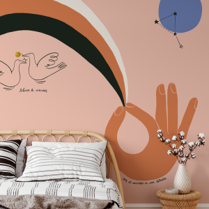 Wallpaper HOPE MOUNTAIN ARCOIRIS - 106 x 350 cm