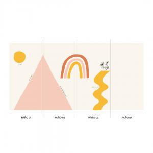 Empapelado HOPE MOUNTAIN triangulo - 106 x 270 cm