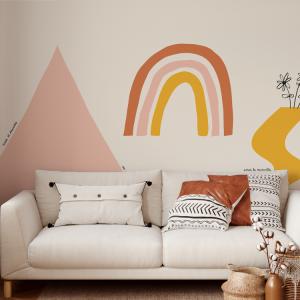 Wallpaper HOPE MOUNTAIN TRIANGLE White - 106 x 270 cm