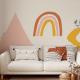 Wallpaper HOPE MOUNTAIN TRIANGLE White - 106 x 350 cm