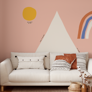 Wallpaper HOPE MOUNTAIN TRIANGLE Pink - 106 x 350cm