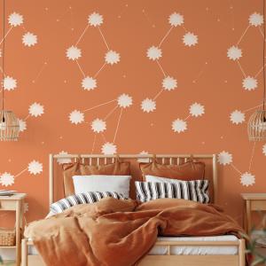 Wallpaper THE SUN Terracotta - 106 x 350 cm