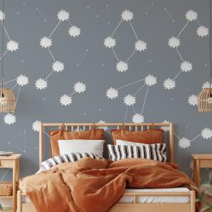 Wallpaper THE SUN Space Gray - 106 x 350 cm
