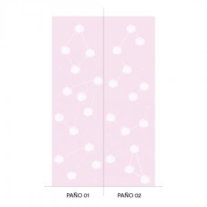 Empapelado THE SUN Lila Pink - 106 x 270 cm