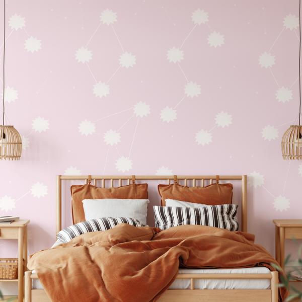 Wallpaper THE SUN Lila Pink - 106 x 350 cm