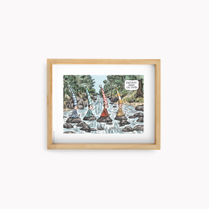 Wall Art Macanudo - Duendes Beatles 22x28cm