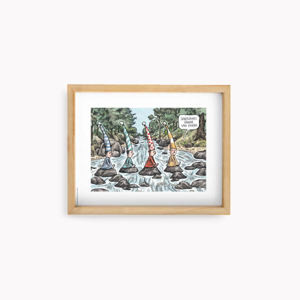 Lámina 22x28cm Macanudo Duendes Beatles