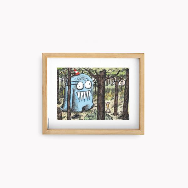 Wall Art Macanudo - Olga en el Bosque  22x28cm