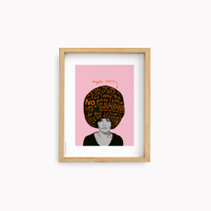 Lamina Happimess - Angela Davis 22x28cm