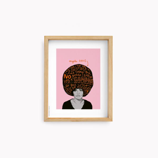 Wall Art Happimess - Angela Davis 22x28cm