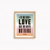Lamina Tano Veron  - Sino hay Love 22x28cm