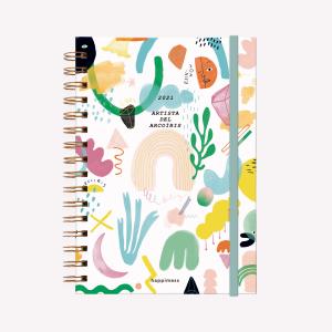 Agenda 2021 A5  Semana a la vista - Happimess Artista del Arcoíris