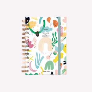 Agenda 2021 Pocket  2 días por pag - Happimess Artista del Arcoíris