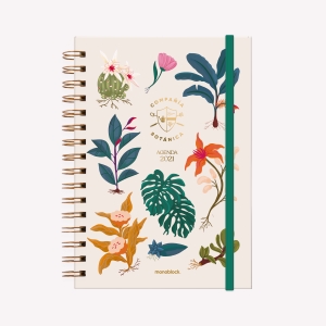 Planner 2021 A5 2 days per pages - Compañía Botánica Days