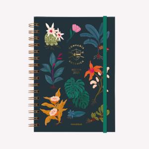 Agenda A5 2021 2 días por pag - Compañía Botánica Noche