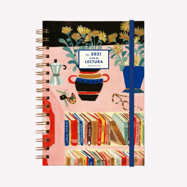 Planner 2021 A5 weelky - Book Club Un Libro y Una Flor