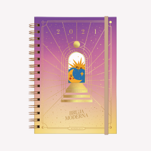 Agenda Solar 2021 A5 Bruja Moderna Luz - 2 días por pág