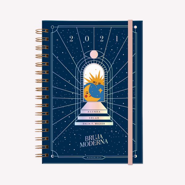 Solar Planner 2021 A5 Modern Wich Sombra- 2 days per page