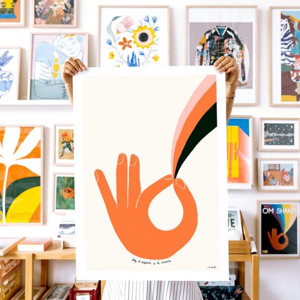 Wall Art Om Disorder by Vik Arrieta - 50x70 cm