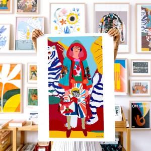 Wall Art Mizaki by Santiago Paredes - 50x70 cm