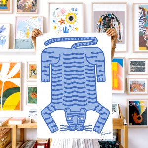 Wall Art Tiger by Agustina Ramos - 50x70 cm