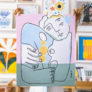 Wall Art A Hug by Larris - 40x50cm