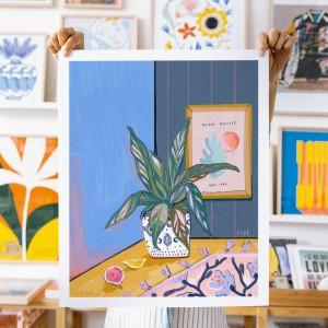 Lamina Mi planta y Henri x FIDE - 40x50 cm