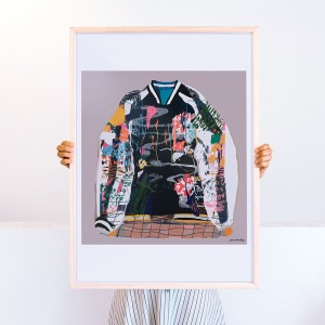Wall Art Bomber by Santiago Paredes - 50x70 cm