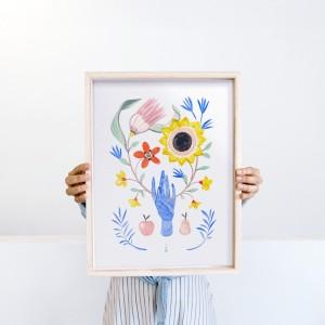 Lámina  Floral Hand x Lucilismo -  30x40 cm