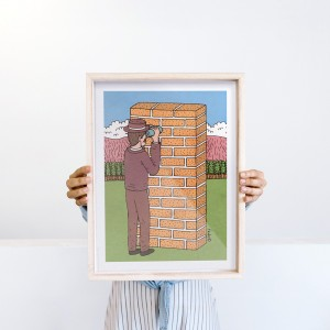 Wall Art Report by Fede Calandria - 30x40 cm